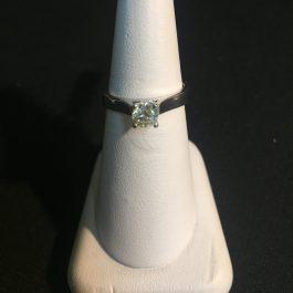 Weißgold Verlobungsring 0,40 ct.