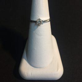 Weißgold Verlobungsring 0,23 ct.